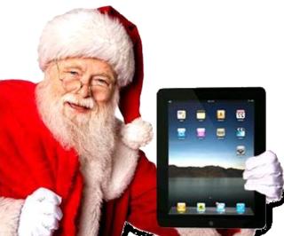 Santa with iPad