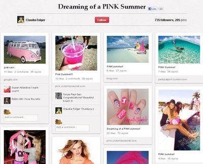 Pink corkboard